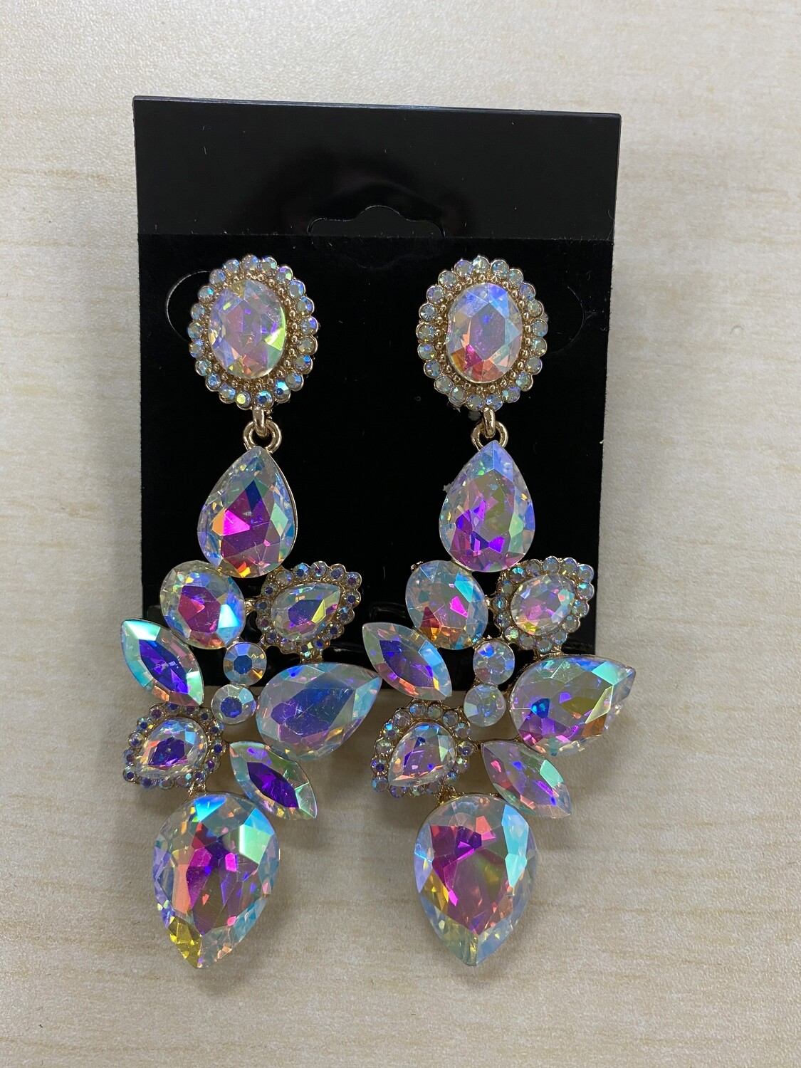 Formal Earrings Gold AB Willow