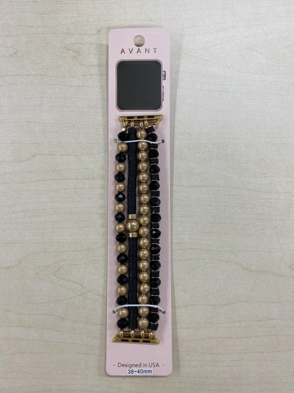 38-40mm Beaded Apple Watchband Bracelet