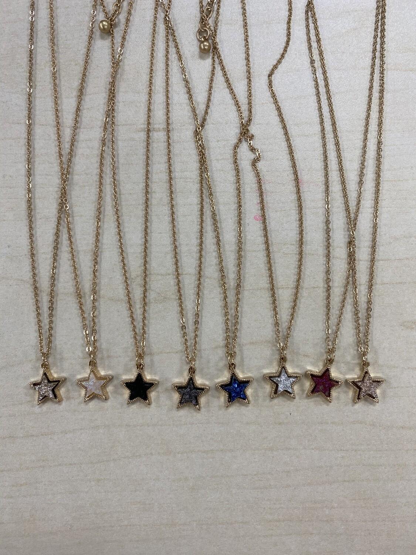 XS Druzy Star Gold Necklace