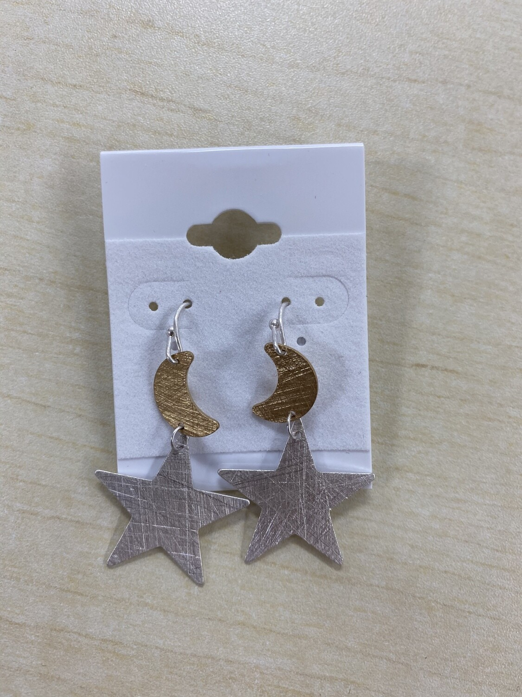 Moon and Stars Earrings