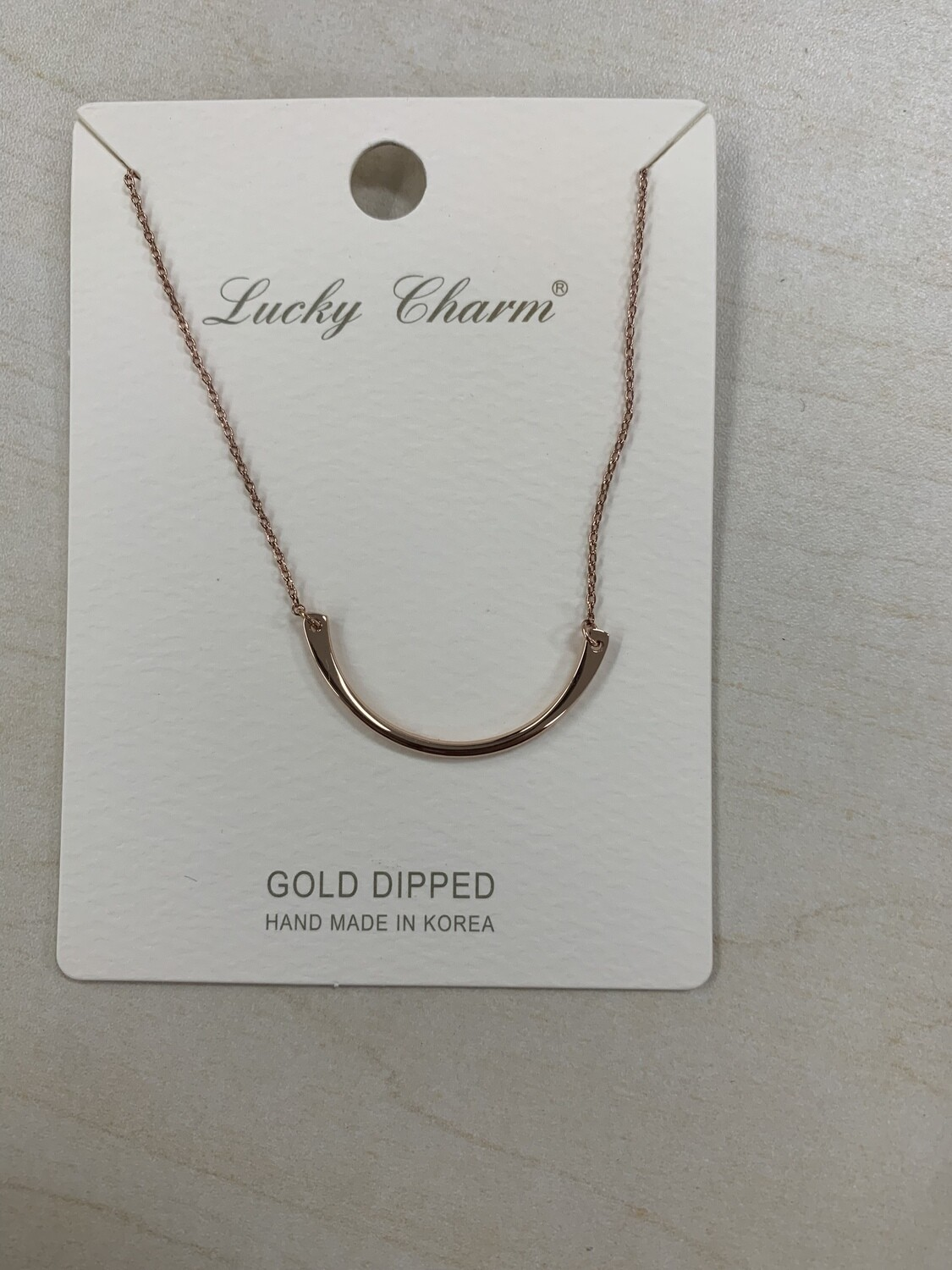 Necklace Gold Dipped Round
