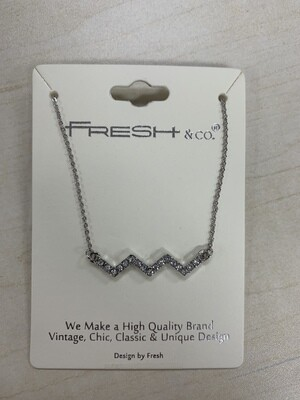 Necklace Squiggle Rhinestone