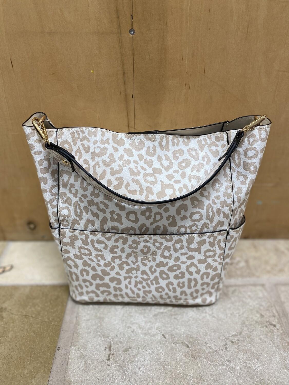 Abby Bucket Bag Cheetah Nude