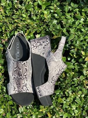 Corkys Cabot Black Snakeskin Shoes