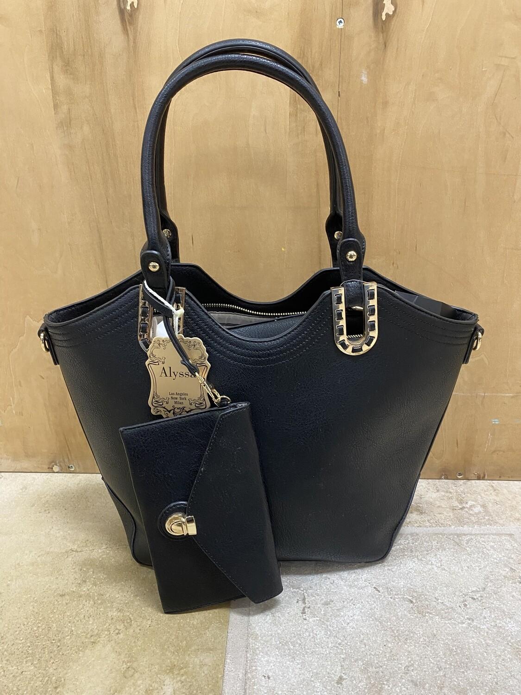Black Handbag with Wallet