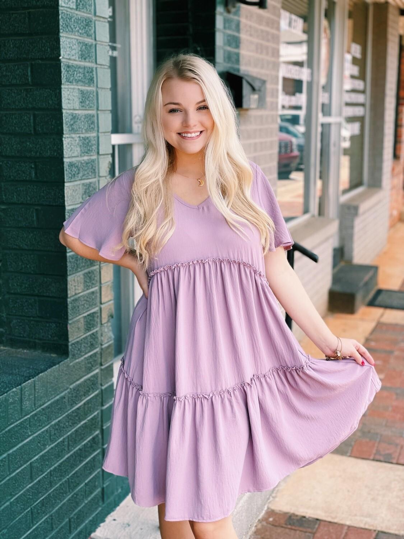 Lavender Tiered Dress