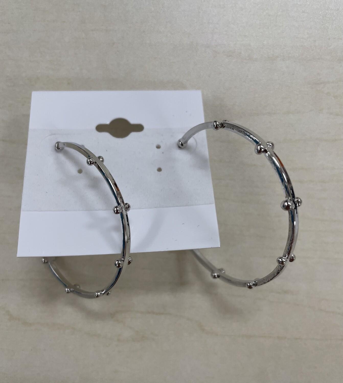 Hoop Earrings with Dot Detailing