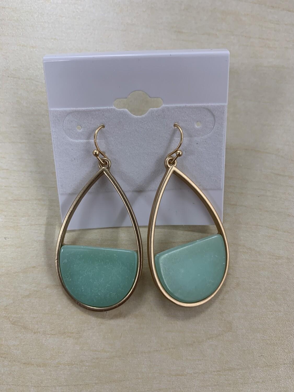 Tear Drop Color Earrings