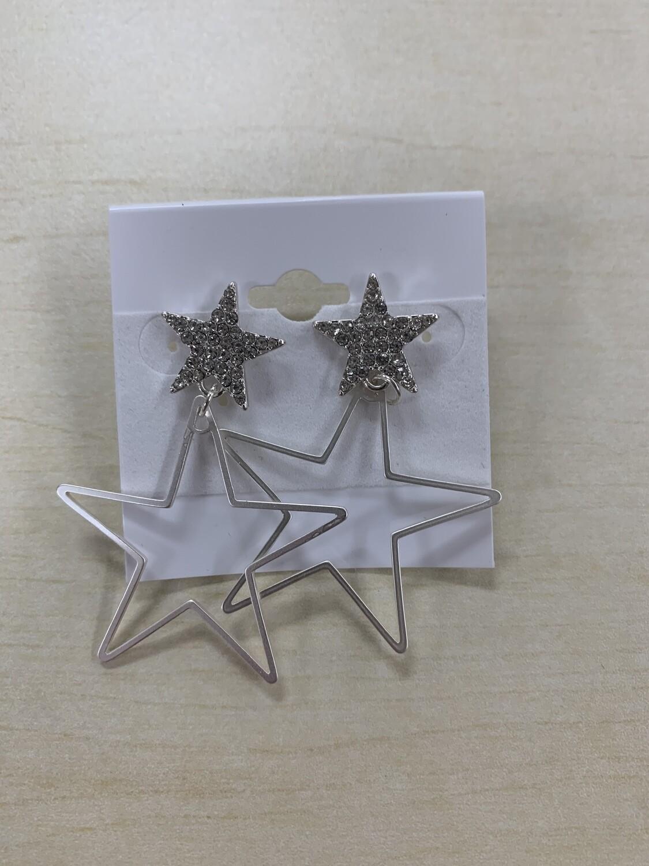 Thin Star Dangle Earrings