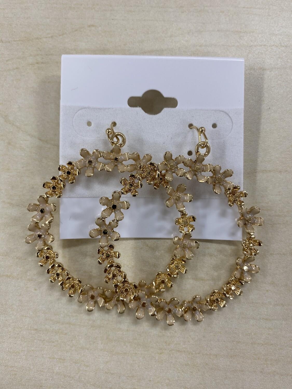 Round Flower Earrings
