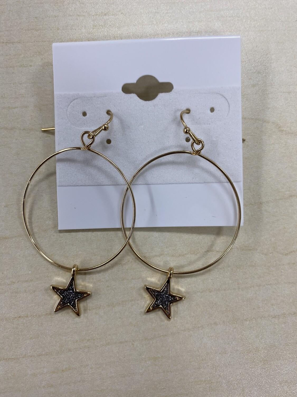 Dainty Star Dangle Earrings