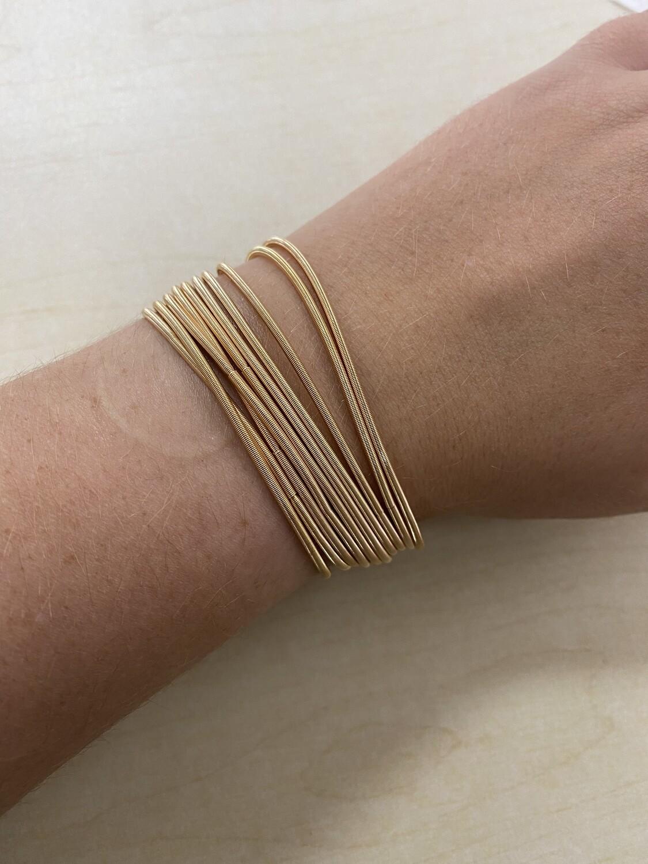 Gold Guitar String Bracelet