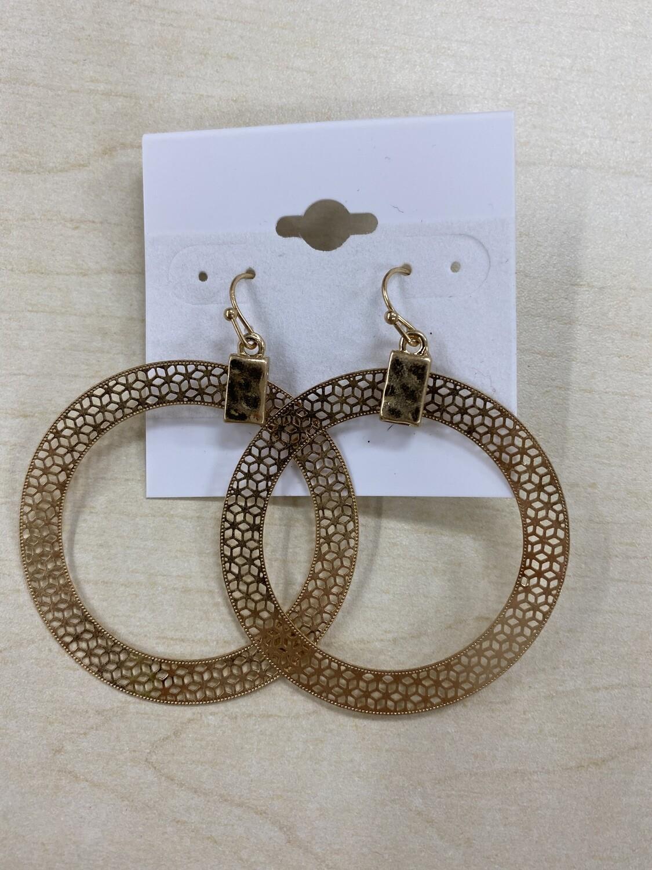 Thin Metal Circle Earrings