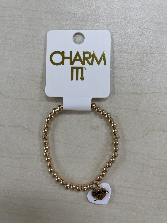 Charm it Gold Stretch Bracelet