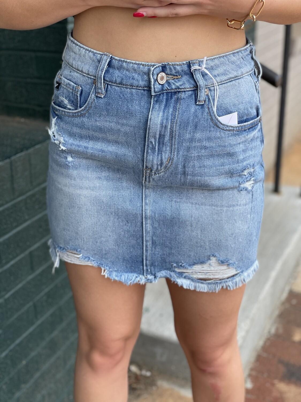 Kancan Frayed Bottom Mini Skirt