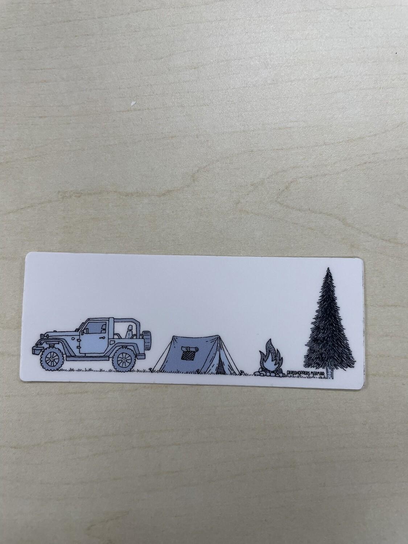 Jeep Camping Sticker