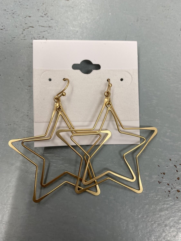 Layered Star Earrings