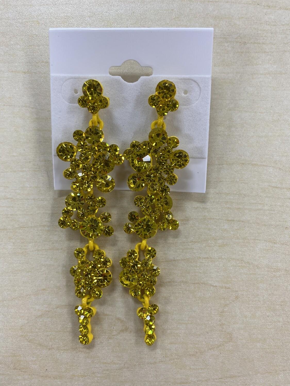 Formal Earrings Yellow Bubbles