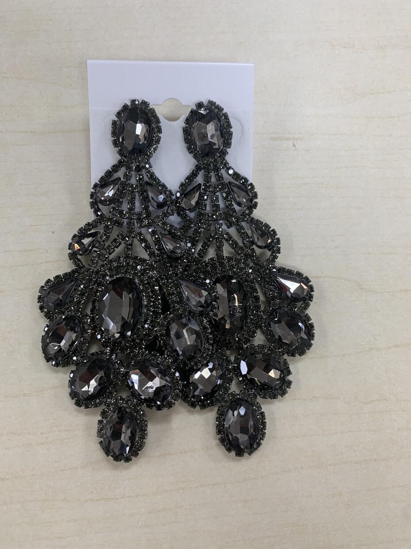 Formal Earrings Jet Black Xlarge Earrings