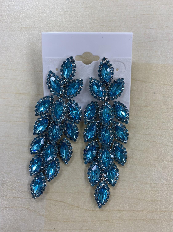Formal Earrings Light Blue Scale Earrings