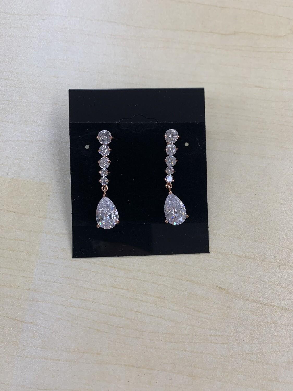 Formal Earrings Silver Rose Gold Sm