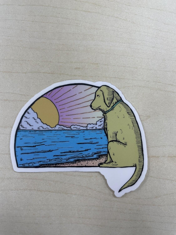 Sunrise Pooch Sticker
