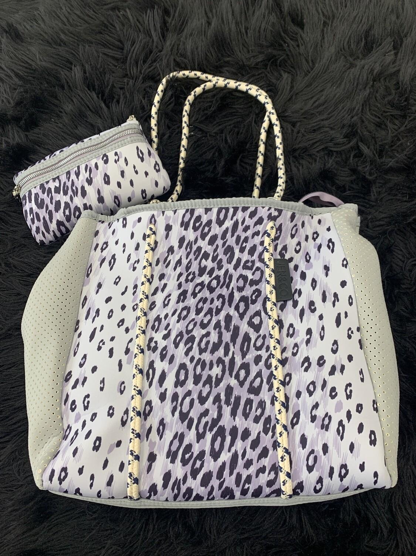 Jen & Co Cheetah-Ivory Bucket Purse