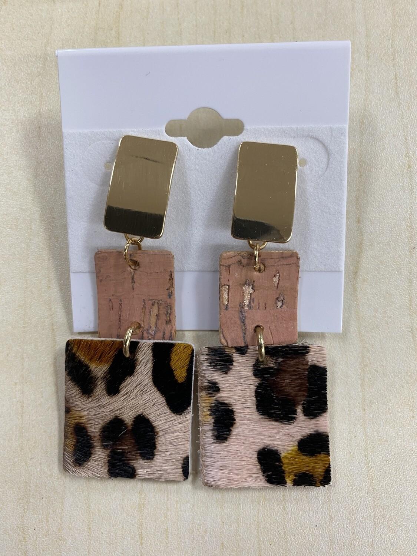 Blush Animal Tiered Earrings