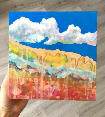 Abstract Clouds Wood Panel
