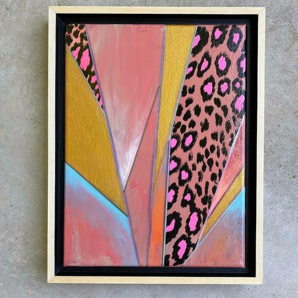 Sassy Cheetah Pink on canvas