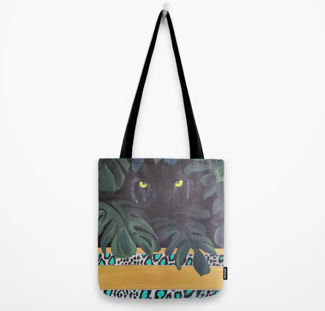 Black Jaguar Tote Bag