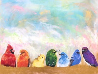 Print of Chakra Birds painting