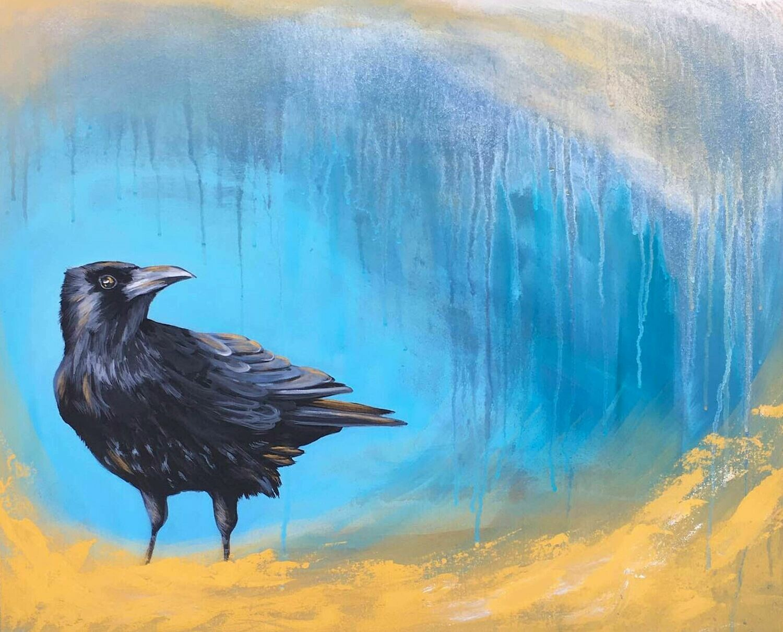 Print of Crow Magic painting