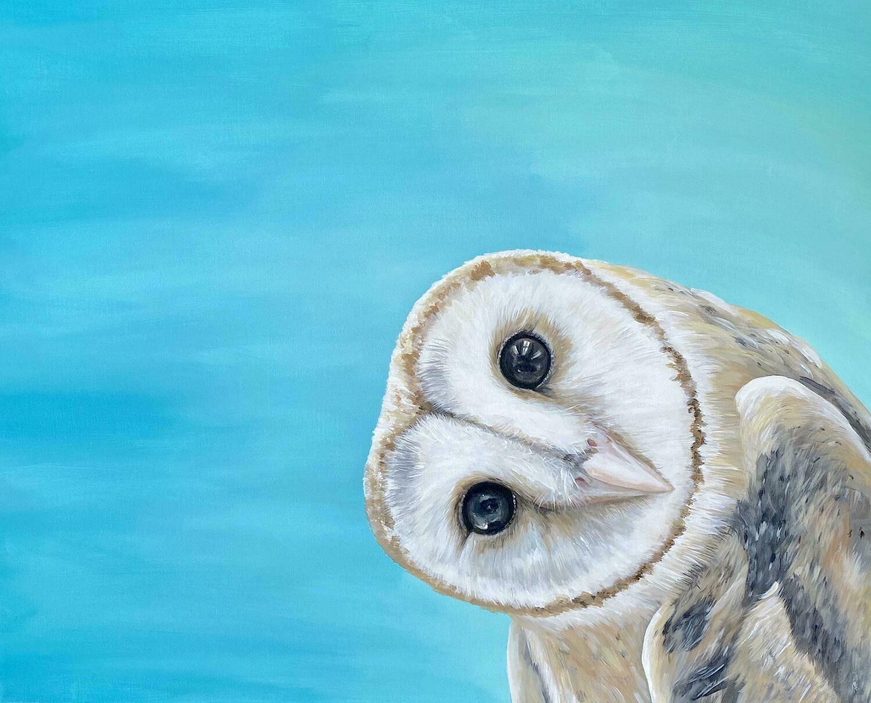 Print of Owl Head Tilt Painting