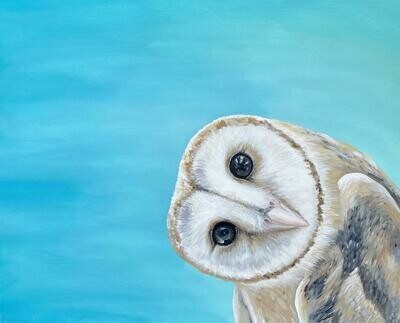 Print of Owl Head Tilt Painting