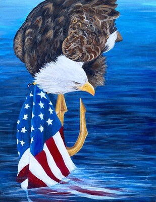 Print of Navy Seal Eagle painting