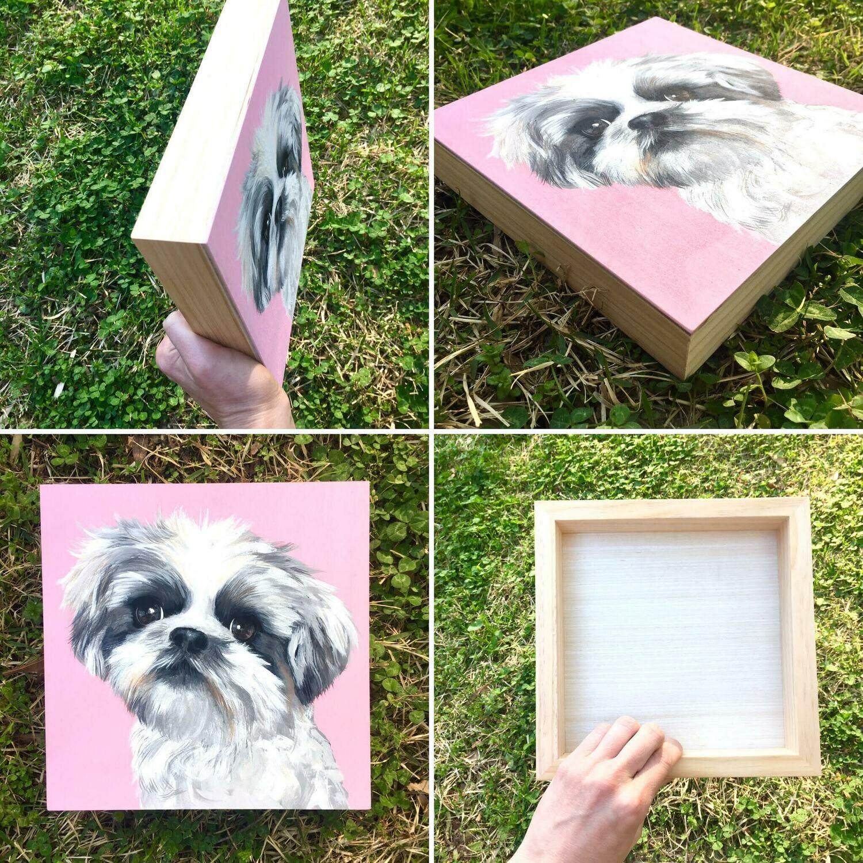 8x8 Wood board pet portrait