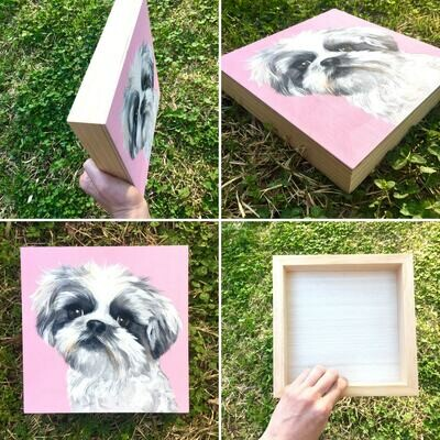 8x8 Wood board pet portrait