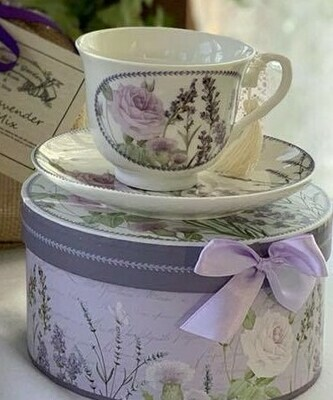 Lavender Rose Tea Cup and Saucer