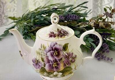 Pansies Tea Pot