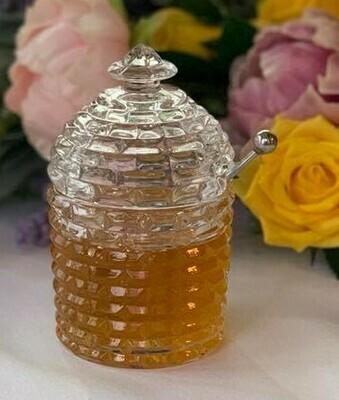 Glass Honey Pot