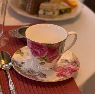 Grace's Rose Cup and Saucer