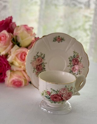 Hidcote Rose Cup and Saucer