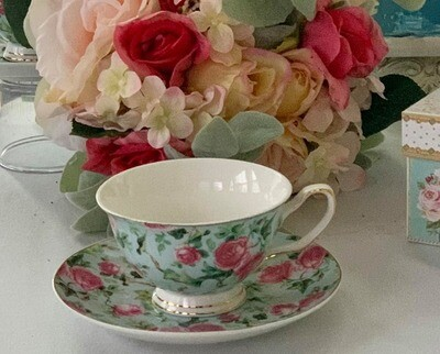 Rose Mist Chintz Cup and Saucer