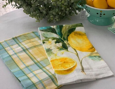 Summer Lemon Kitchen Towels