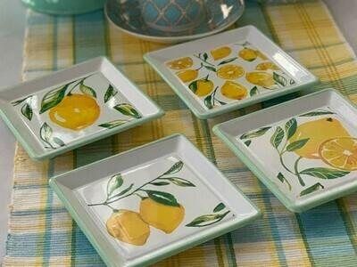 Enameled Plate Set