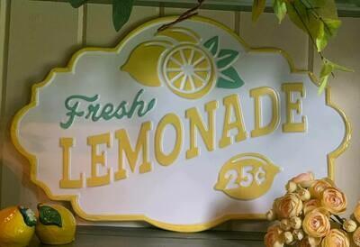 Fresh Lemonade Sign