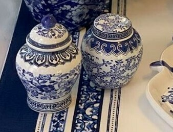 Blue and White Salt and Pepper