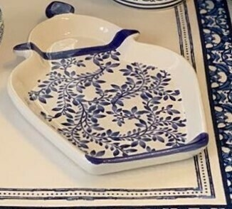 Blue and White Tray