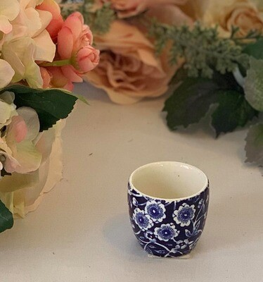 Blue Calico Egg Cup